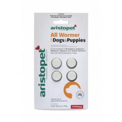All-Wormer Tablets for Dogs – 4 x 10kg Tablets – Aristopet