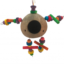 Coconut Toy With Beads – 'The Man' – Famember