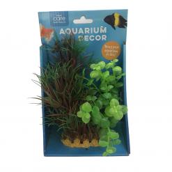 Decorative Ornamental Plant - Green and Purple - 15cm - Allpet - #28