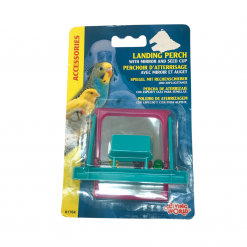 Plastic Landing Perch and Seed Cup - Living World