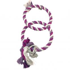 Two Ring Rope Swing - Purple and White - Bon Avi