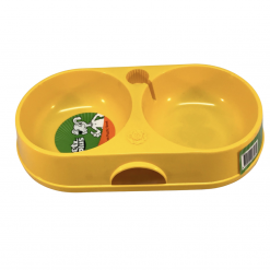 Double Dog Dish With Bottle Space