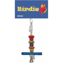 6 Level Perch with Bell - Birdie