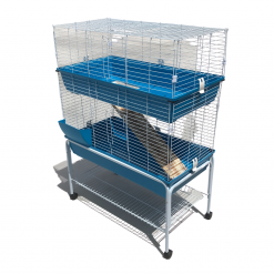 40 Small Animal Cage - Double Storey With Stand - Bono Fido