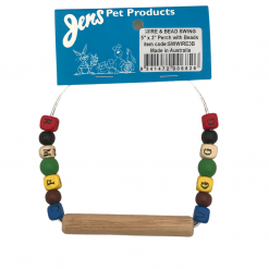 """Wire Bird Swing with Beads - 5"""" x 3"""" - Jen's Pet Products"""