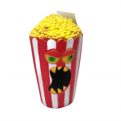 Angry Popcorn! - Squeaky Dog Toy - 15 x 9cm