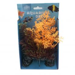 Decorative Ornamental Plant - Rock Base - Orange - 22cm - Allpet - #57