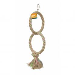 Birdie Jute Parrot Ring Double 16cm