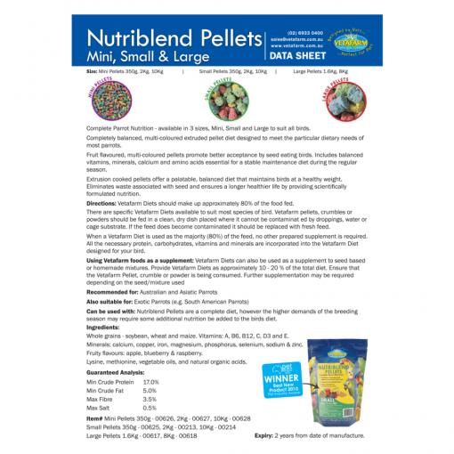 Nutriblend Pellets Data Sheet