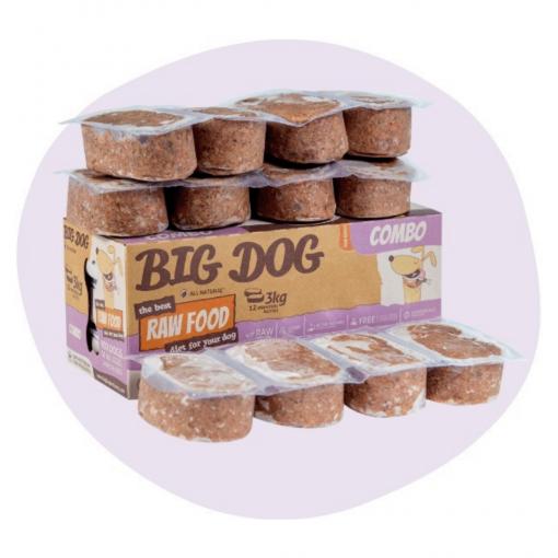 Big Dog Frozen Raw Food Combo 3kg12 Patties