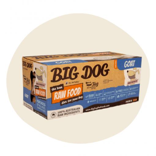 Big Dog Frozen Raw Food Single Protein Goat 3kg12 Patties